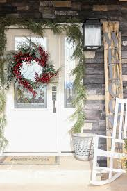 how to make a garland frame your front door the wood grain cottage