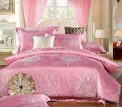 red silver high ranking modal and cotton bedding set satin duvet