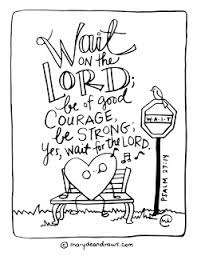 courage wait psalm 27 14 bible verse coloring spanish