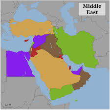 Middle East World Map by Blank Color Map Of The Middle East