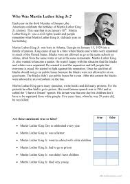 9 free esl martin luther king worksheets