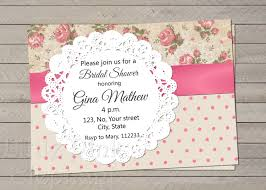 Shabby Chic Invites by Shabby Chic Invitation Floral Bridal Shower Invites Pink Roses