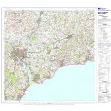 Exeter England Map by Ordnance Survey Os Landranger Active Map 192 Exeter Sidmouth