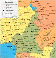 nigeria physical map cameroon map and satellite image