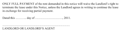 Letter Of Intent Lease by Breaking Down The Parts Of A 5 Day Notice Demand For Rent