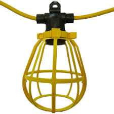temporary job site lighting woods 2483 cord o lite temporary light string strand w plastic