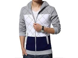 stylish men u0027s winter hoodie grey price in pakistan m010142