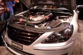 lexus v8 supercharger sema 2008 hyundai debuts tuned genesis sedans 460 hp
