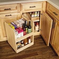 Corner Cabinet Storage Solutions Kitchen Base Blind Corner With Swing Out To Get Max Use Out Of That
