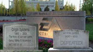 tombstone decorations ea celebrates by decorating offices with tombstones of