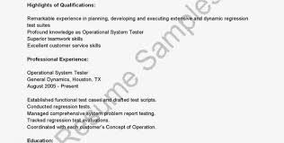 Sample Testing Resume For Experienced by Performance Testing Resume Samples Sample Performance Tester