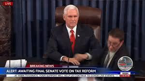 trump tax reform moment u s senate passes historic trump tax reform bill 51 49 youtube