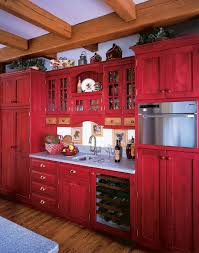 red cabinets in kitchen red painted kitchen cabinets kitchen farmhouse with drawer pulls