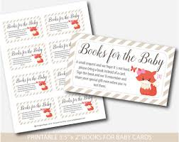 baby shower bring a book instead of a card fox book request baby shower fox inserts fox baby shower books