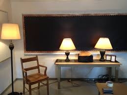 environment changes in a high classroom using lamps to