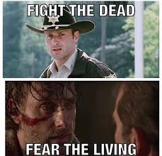 The Walking Meme - remember when zombies were the scariest thing on this show the