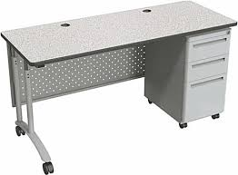 Office Desk With Locking Drawers Standing Office Desk Perforated Modesty Panel