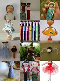 kleas mosaic monday peg dolls