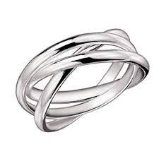 russian wedding rings mimi 925 sterling silver 3 band rolling russian