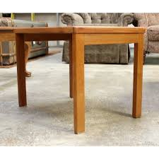 teak wood end table small teak wood end table upscale consignment
