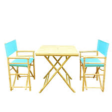 3 Piece Patio Dining Set - hudson 3 piece patio square lounge set with teak cushions3 outdoor