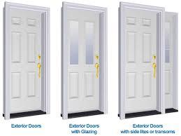 Exterior Door Units Exterior Door Types Sill To Sash