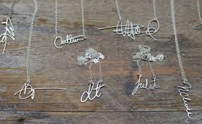 design your own necklace custom signature necklaces by brevity design milk