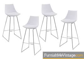 Modern White Bar Stool Modern White Barstools