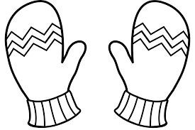 snow clipart mitten pencil and in color snow clipart mitten