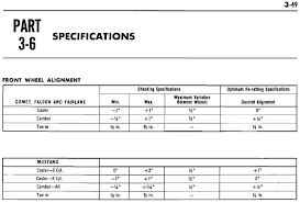 1968 mustang dimensions list of mustang front wheel alignment specification based on