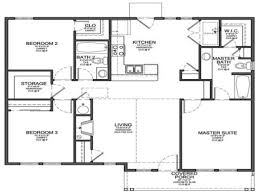 House Plans For Cottages by Floor Plans Small 3 Bedroom House Floor Plans L Shaped House