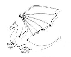 simple dragon outline coloring page free download