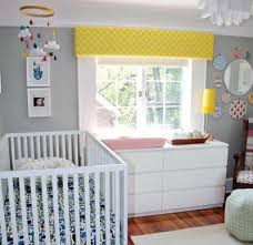 love the wall color and bright pops of color u2022gray nursery wall