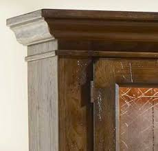 attic heirlooms rustic oak china cabinet by broyhill home