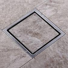 Bathroom Shower Drains Two Sided Tile Insert Square Floor Waste Grates Bathroom Shower
