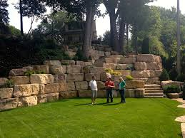Terraced Retaining Wall Ideas by Boulder Retaining Wall Boulder Wall Design Boulder Images Inc