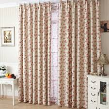 ivory and red fancy living room or bedroom curtains for sale