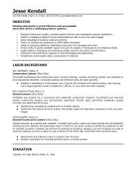 sle resume exles construction project free sle resume objectives you must have some references like