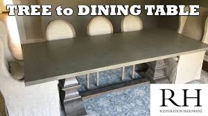 tree to restoration hardware dining table youtube
