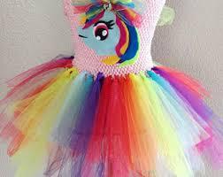 Rainbow Dash Halloween Costume Rainbow Dash Tutu Etsy