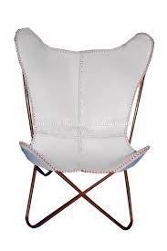 scandinavian white leather butterfly chair buy scandinavian