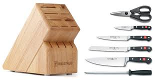 honing kitchen knives amazon com wusthof classic 7 piece cutlery set with storage block