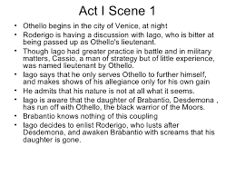 themes in othello act 1 scene 3 othello ppt scene by scene