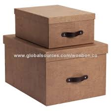 china cardboard folding storage box made of eco friendly rigid