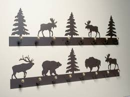 bear pine eld and moose coat racks for a log cabin retreat