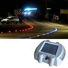 solar power white 6led road driveway pathway stair lights us