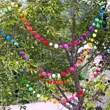 Pom Pom Trees Extraordinary Wedding Inspiration Pom Pom Decoration More At