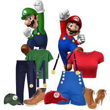 his and her halloween costumes mario and luigi polyvore