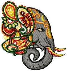 ornamental elephants embroidery store for embroidery