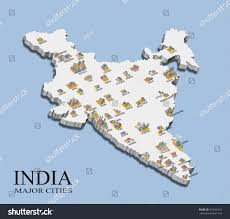 Map Of India Cities Illustration India Map Major City Population Stock Illustration
